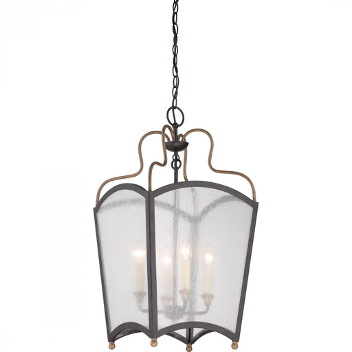 QUO QF1838IBC CAGE CHANDELIER W/4 LIGHTS