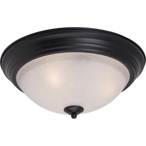MAXIM 5840ICBK Essentials 1-Light Flush Mount