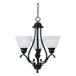 MAXIM 11804ICBK Linda 3-Light Chandelier 100 WATT