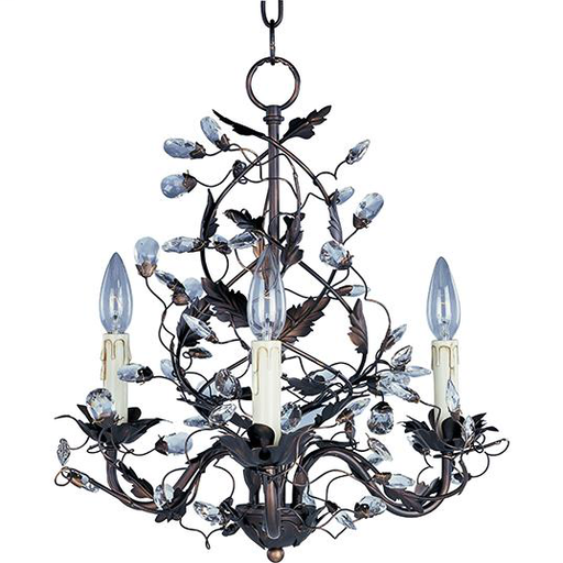 MAXIM 2850OI Elegante 3-Light Chandelier CHANDELIER 3-60W CAN