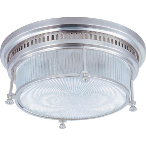 MAXIM 25000CLSN Hi-Bay 2-Light Flush Mount 13W X 4.75H (2) 60W MAX