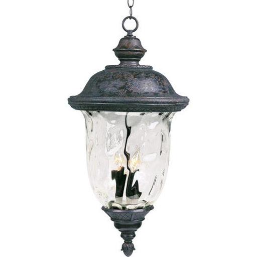 MAXIM 40428WGOB Carriage House VX 3-Light Outdoor Hanging Lan Hanging Lan
