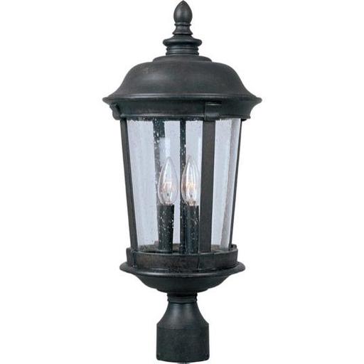 MAXIM 3021CDBZ Dover Cast 3-Light Outdoor Pole/Post Lantern Pole/Post Lantern