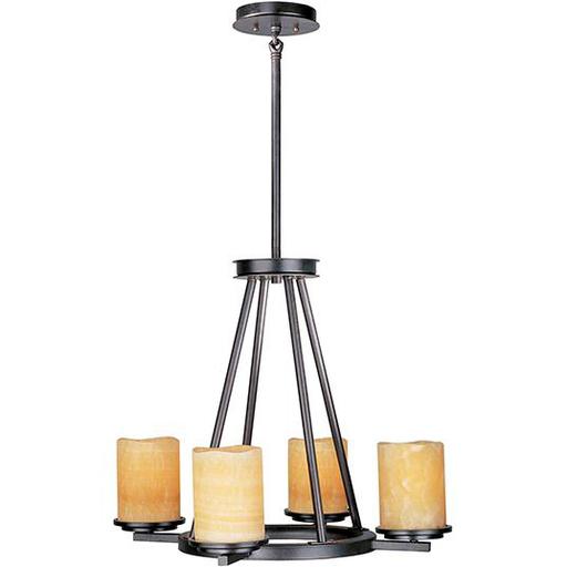 MAXIM 21144SCRE Luminous 4-Light Chandelier 24W X 20H (37H) 4-100W