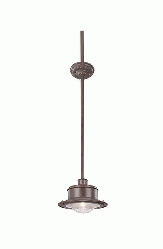 TRY F9395OR SOUTH STREET OLD RUST STEM MOUNT LANTERN 60W MED