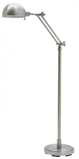 "HOT AD400-SN SATIN NICKEL 48""-58"" ADJ. PHARMACY FLOOR LAMP 75W MED"