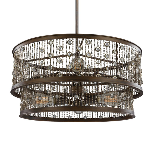 MURF F3048/6CSTB-AL 6 - LIGHT CHANDELIER 6 - E 60 WATT ANTIQUE