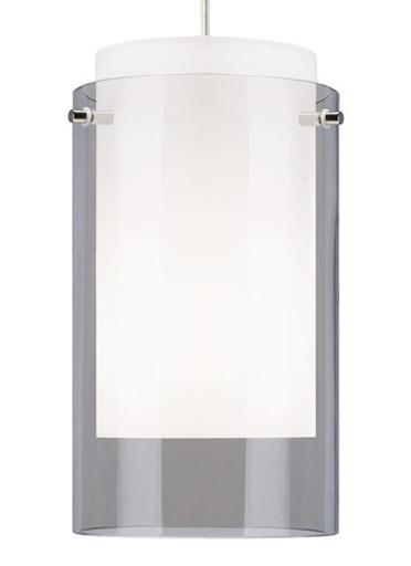 TECH 700TDECPSS TD-ECHO LG SMOKE, SN GLASS, SATIN NICKEL W/1-75W-M