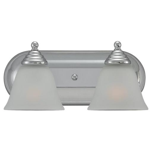SEG 44576-05 ( OBSOLETE ) TWO LIGHT BATH BAR CHROME