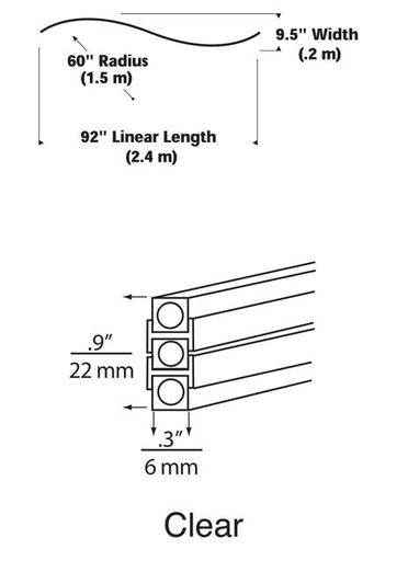 TECH 700MO2BHSC60S MO2-HORIZ S-CURVE CLEAR, SN