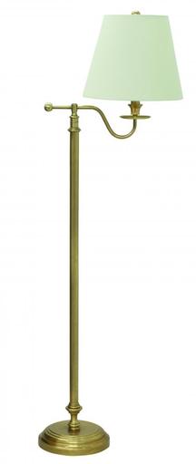 "B502-WB Bennington 58"""" Weathered Brass Floor Lamp"