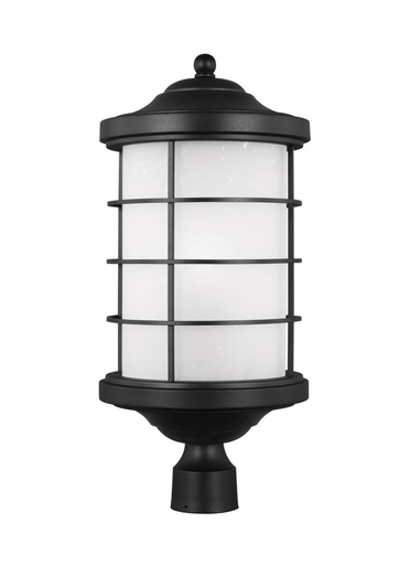SEG 8224451-12 ONE LIGHT OUTDOOR POST LANTERN BLACK