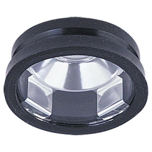SEG 9357-12 LX REC. OPEN TRIM W/LENS-BLACK