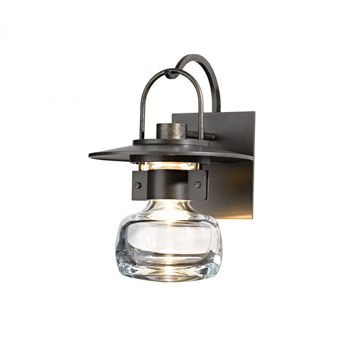HUF 303003-05-ZM448 OUTDOOR SCONCE WITH THICK BLOWN GLASS BELL ALUMINUM, MEDIUM.