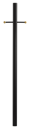 HNK 6661BK BLACK 7' ALUMINUM POST WITH LADDER REST