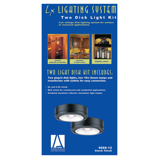 SEG 9888-12 LX TWO DISK LIGHT KIT-BLACK