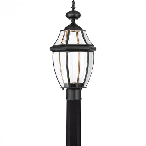 QUO NYCL9011K NEWBURY CLEAR LED - K MYSTIC BLACK FINISH, LARGE POST LANTERN