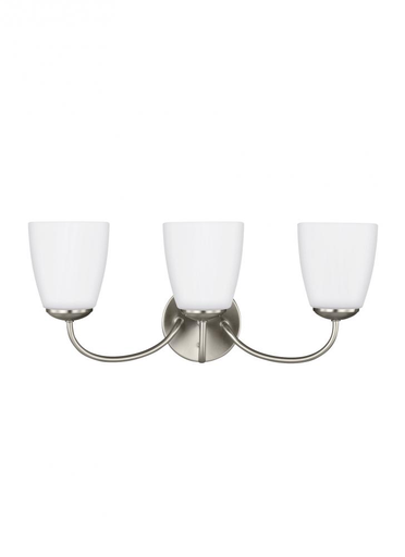 SEG 4416603-962 THREE LIGHT WALL / BATH BRUSHED NICKEL