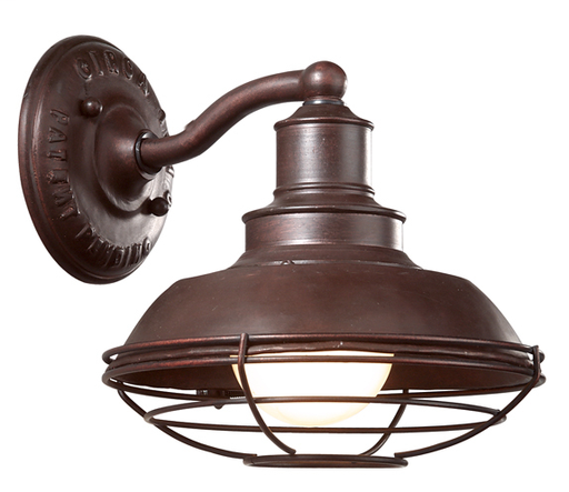 TRY B9270OR CIRCA 1910 OLD RUST WALL LANTERN 100W MED