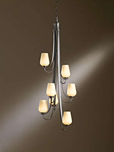 HUF 103037-05-ZW303 CHANDELIER WITH SEVEN ARMS AND GLASS OPTIONS.
