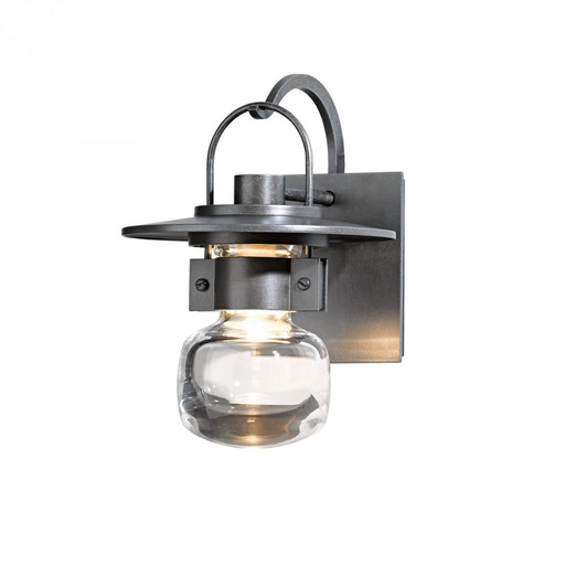 HUF 303001-08-ZM435 OUTDOOR SCONCE WITH THICK BLOWN GLASS BELL ALUMINUM, SMALL.