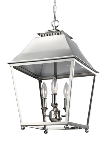 MURF F3089/3PN 3 LIGHT INDOOR PENDANT POLISHED NICKEL