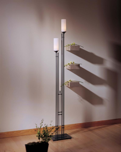 HUF 248416-05-G73 FLOOR LAMP WITH GLASS OPTIONS: TALL METRA TWIN.