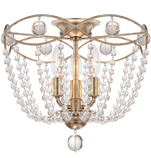 CRY 8303-DT 3 Light Distressed Twilight Ceiling Mount