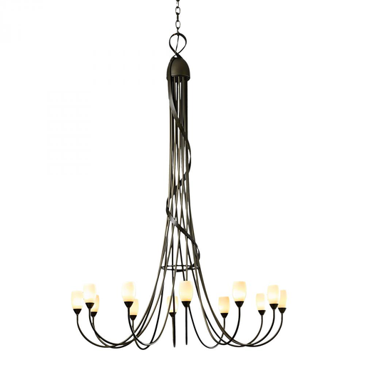 HUF 19104412-03-ZX444 LARGE-SCALE CHANDELIER WITH GLASS OPTIONS TWELVE ARMS.