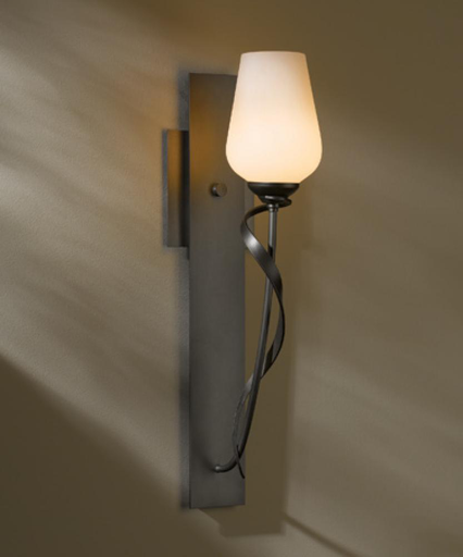 """HUF 203030-10-ZX303 DIRECT WIRE WALL SCONCE: FLORA WITH GLASS OPTIONS. GLASS OPTIONS. 18-1/2"""" X 4.8"""" SCONCE"""