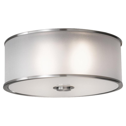 "MURF FM291BS H - 5.25"" D - 13 2 BULB BRUSHED STEEL FLUSH MOUNT"
