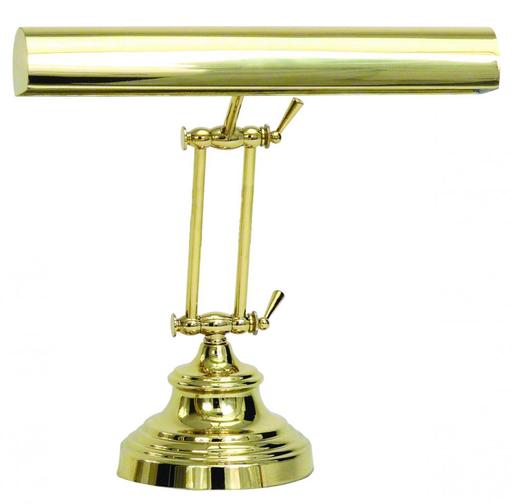 """HOT AP14-41-61 POL. BRASS 14"""" ADVENT ADJ. PIANO/DESK LAMP 2-40W MED T10 FROST"""