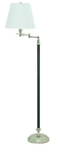 "B501-BPN Bennington 61"""" Black and Polished Nickel Swing Arm Floor Lamp"