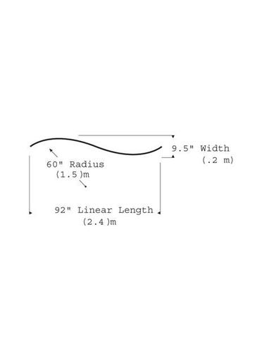 "TECH 700TT2BHSC60S TT2-HORIZ S-CURVE,SN TECH TRAK ANT. BRONZE 92""L x 9.5""W WITH 2 END CAPS"