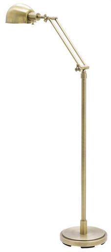 """HOT AD400-AB ANT. BRASS 48""""-58"""" ADJ. PHARMACY FLOOR LAMP 75W MED"""