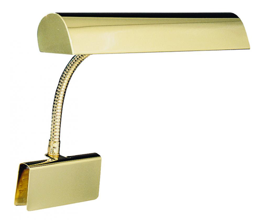 """HOT GP14-61 POL. BRASS 14"""" GRAND PIANO CLAMP-ON GOOSENECK LAMP 2-40W OR 60W MED T10"""