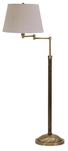 R401-AB Richmond Swing Arm Antique Brass Floor Lamp
