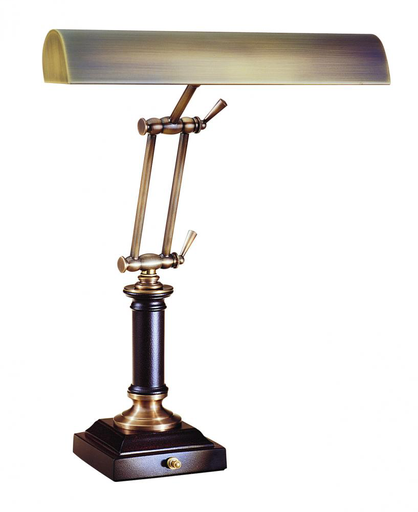 """HOT P14-233-C71 ANT. BRASS/CORDOVAN 14"""" PIANO/DESK LAMP 2-40W OR 60W MED T10 FROST"""