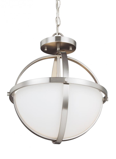 SEG 7724602-962 2 LIGHT SEMI-FLUSH CONVERTIBLE PENDANT