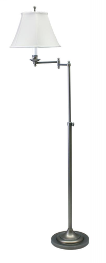 HOT CL200-AS CLUB FLOOR LAMP ANT SILVER/WHITE SH 1-100A 3WAY