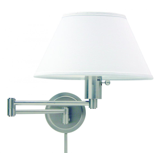HOT WS14-52 WALL MOUNT SWING LAMP SATIN NICKEL ** Send Shades w/ Fixture **