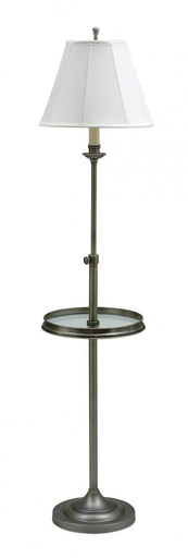 HOT CL202-AS CLUB FLOOR LAMP/TRAY ANTIQUE SILVER 1-100W 3-WAY