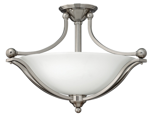 HNK 4669BN 3LT SEMI FLUSH FOYER FX