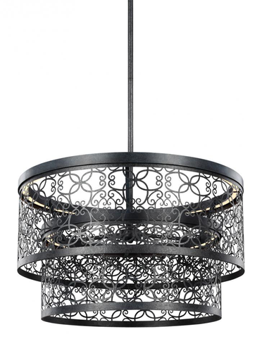 MURF F3098/2DWZ-LED 24 INCH TWO-TIER OUTDOOR LED PENDANT DARK WEATHERED ZINC