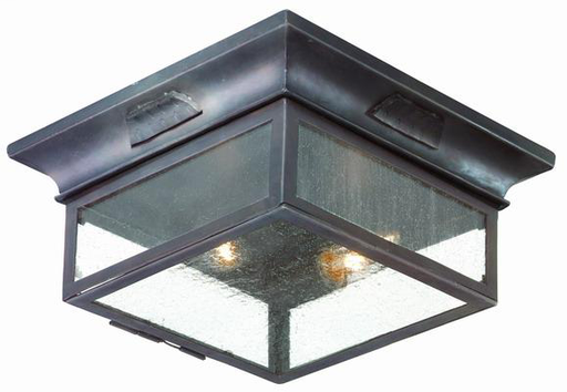 """TRY CCD9000OBZ NEWTON OLD BRONZE 12.75""""SQ x 5.75""""H OUTDOOR FLUSH 2-60W MED"""