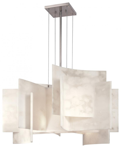 KOVAC P382-084 BRUSHED NICKEL/ALABASTER DUST CHANDELIER 5-60W MED