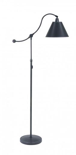 """HOT HP700-OB-BP HYDE PARK FLOOR LAMP 57""""H (1-100W) HI-LO ON COLUMN W/ SHADE"""