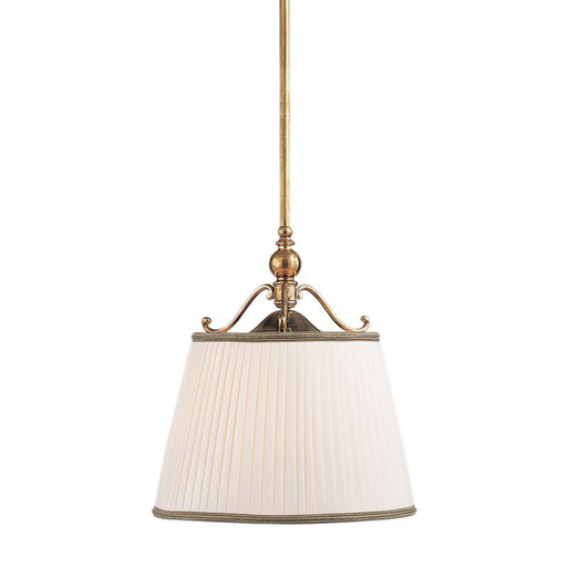 HDV 7711-AGB 1 LIGHT PENDANT WITH SHADE