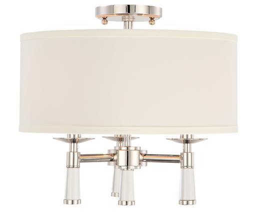 CRY 8863-PN_CEILING BAXTER 3 LIGHT POLISHED NICKEL CEILING MOUNT