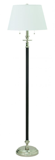 HOT B500-BPN BENNINGTON FLOOR LAMP BLACK/POL NICKEL 2-100W 63 X 17